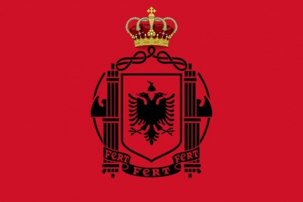 Flag of Albania 1939 crowned